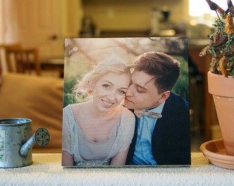 Personalized Photo Printed on wood -k-Wedding Gift, Decor, Housewares, Home Decor, Home and Living