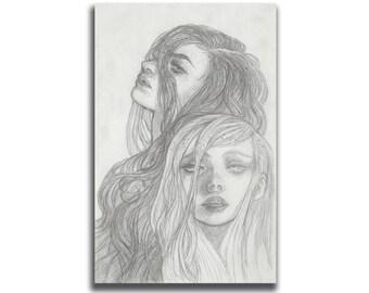 Content 5.5 x 8.5 Art Print