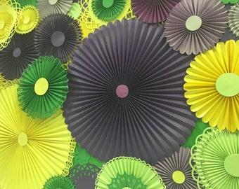 Paper Pinwheel Rosette Backdrop
