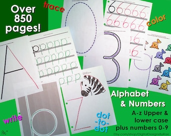 850+ Alphabet & Number Writing Practice Activity Pages