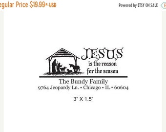 Mothers Day Sale Nativity Scene Religious Custom Return Address  Rubber Stamp AD145