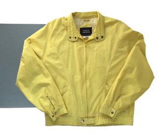 Vintage Yellow Windbreaker Jacket