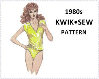 Lingerie Sewing Pattern - 1985 Kwik Sew 1484 Pattern - Camisole and Panties - Size XS S M L, Bust 32-42 - V-Neck, Lace, High Cut Leg, Raglan
