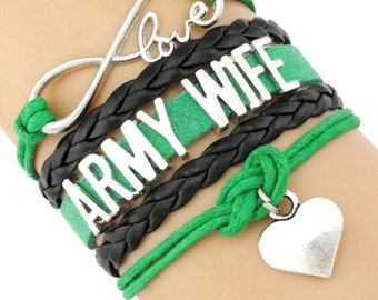 Army Wife Adjustable Wrap Bracelet