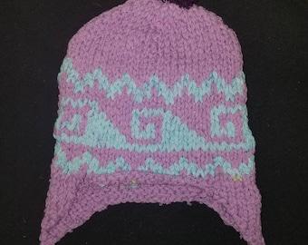 I.) Hand made knitted wool ski cap/ winter hat- Pakistani made