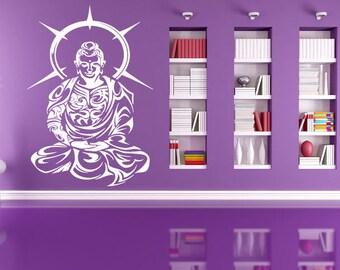 Wall Decal Sticker Indian God Om Elephant Hindu Success Buddha India Ganesha Ganesh Hindu Welfare Bedroom Meditation Yoga Room Decor ZX268