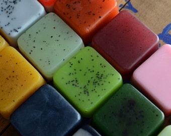 Mini Soaps -  Pick 4 Soap Samples, Handmade Soap, Glycerin Soap