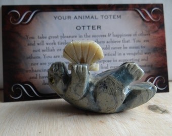 Hand Carved *OTTER* Animal Spirit Totem for Spiritual Jewelry or Crafts