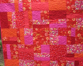 Bohemian Reds and Pinks Quilt