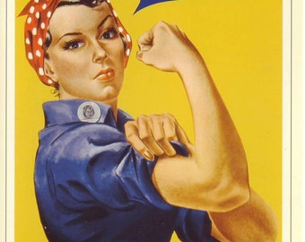 Modern Postcard of WWII Rosie the Riveter   We Can Do It    1942   wwii propaganda, wwii