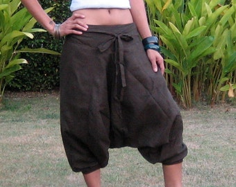 Capri Pants * Harem Pants * Sarouel * Harem Trousers * Short Trousers * Harem Baggy * Aladdin Style * Yoga * Travel * Drop Crotch * HC-choco