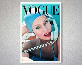 Vogue Cover - Vintage Vogue Poster - Poster Print, Sticker or Canvas Print / Gift Idea