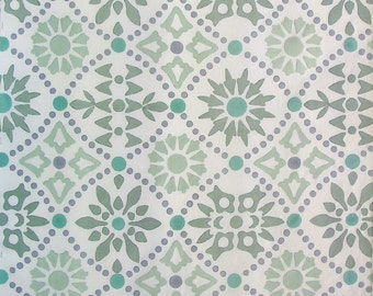Hand Printed Linen Fabric - One Yard - Block Printed by Hand