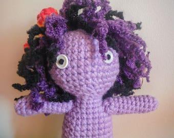 Crochet Stuffed Purple Doll