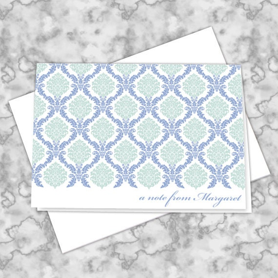 thank you cards, personalized notecards, periwinkle thank you cards, thank you notes, teacher appreciation, teacher gifts, NC137