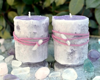 Sparkling Candle Set, Slow Burning Candles, Hand Poured Candle, Handmade Candle, Fairy Candle, Fairy Dust Candle, Fairy Magic Candle