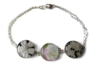 3 Generation Bracelet Made with Grandmother's, Mother's, and Your Wedding Lace - 3 Pendant Bracelet
