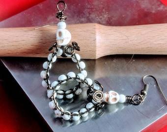 Hoop earrings, skull earrings,Jack Skellington Hoop Earrings