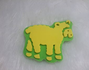 stamp, stencil depicting a sheep for painting