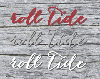 Alabama Inspired Roll Tide Vinyl Decal