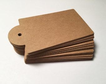 Die Cut, Hang Tags, Kraft Blank Tags, Boutique Tag, Gift Tag, Retail Tag, 65 lb Card Stock CP-2003