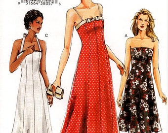 Sz 6/8/10 - Vogue Dress Pattern V7875 - Misses' Princess Seam, Fit and Flare Dress in Three Length and Neckline Variations - Vogue Patterns