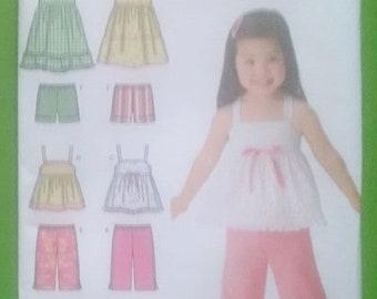 UNCUT SIMPLICITY 4203 Toddler Dress, Top, Shorts, Pants