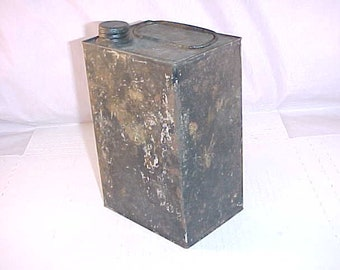Vintage Tin with Wire Handle