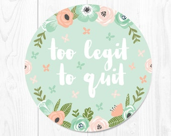 School Supplies Mouse Pad Coworker Gift Floral Mousepad Mouse Mat Floral Office Desk Accessories Too Legit to Quit Mousepad Office Supplies