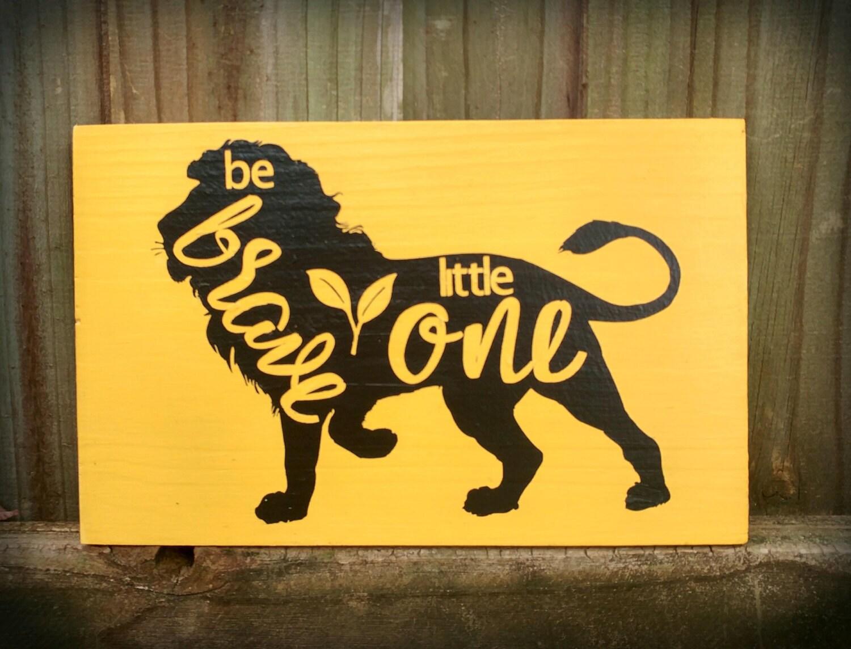 Handmade Pine Wood lion Sign, Wall Decor for Nursery, Child\'s room ...