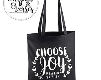 Choose Joy Tote bag | Christian tote bag | Bible verse tote bag| Inspirational tote bag.