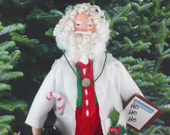 Santa Clause Doll Miniature Art Doc Holiday
