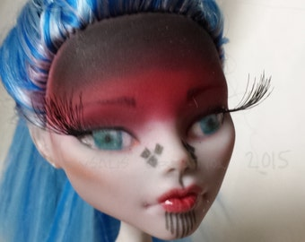 "Repainted Custom Monster High Doll OOAK ""Maeve"" - Repaint, Upcycled, Fantasy, Warrior / Shaman, Art Doll For Collectors/Display"