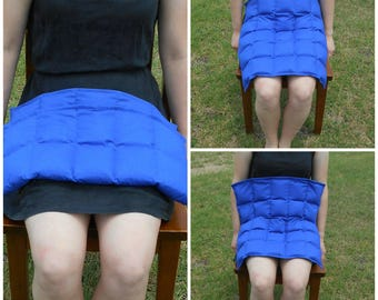 VALUE weighted lap pad, choice of plain cotton colours, 1 kg to 3 kg, 50 x 50 cm weighted lap blanket