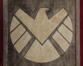 Agents of Shield Wooden Inlay Wall Art