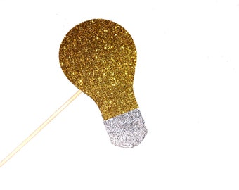 Bright Idea Lightbulb Photo Booth Prop - Glitter Photo Booth Props