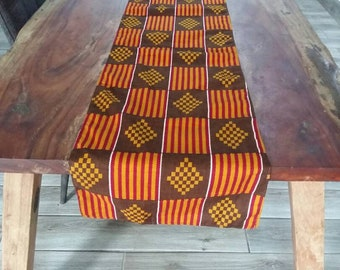 african TABLE RUNNER ... Wax Print / Batik ... Table Linens Made in Ghana ... African Home Decor