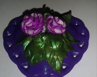 Limoges Style Heart Shaped Trinket/Ring Box