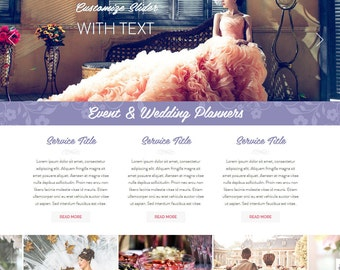 Premade Wix Website • Event Planners Theme