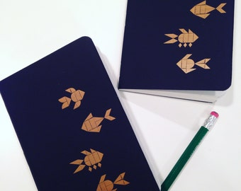 Gold Fish Pocket Notebook with Blank Pages