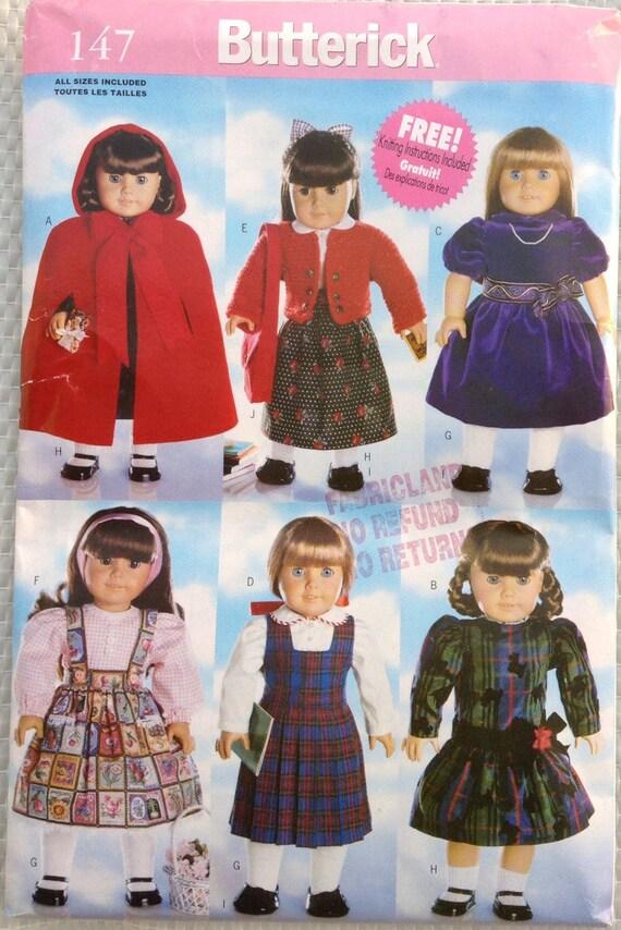 18-Zoll-Puppe Kleidung Butterick Schnittmuster
