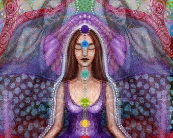 The Angel and the Violet Ray greetings card.