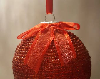Red Glass Bead Ornament