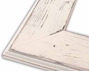 Distressed Frame, Ashley Heirloom White Picture Frame, Shabby Chic, Rustic Home Decor, Variety of Sizes Available, Photo Frame 16x20, 8x10