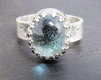 Marie Memorial Hair or Pet Ashes Ring EXAMPLE ONLY