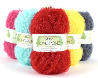 2017 New Korean PONGPONG Scrubber Yarn,Scrubby Yarn, 100% Polyester,  3.17oz(90g), 10g upper than other scrubbies yarn in south korea