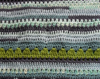 Baby Blanket organic cotton child blanket crochet blanket