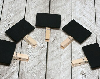 Mini Chalkboard Clothespin Signs