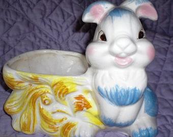 Thumper Bunny Ceramic Planter