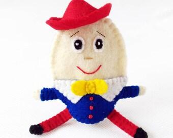 Humpty Dumpty felt finger puppet, Humpty Dumpty, felt finger puppet